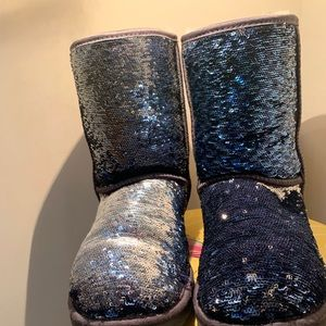 Glitter Reversible Sequin Ugg Boots